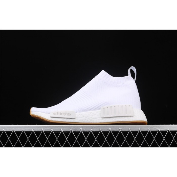 Men Adidas NMD Real Boost CS1 PK In All White BA7208 Shoes