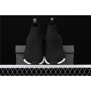 Men Adidas NMD Real Boost CS1 PK In White Black BD7733 Shoes
