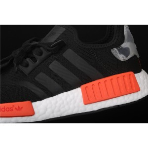 Men Adidas NMD Real Boost R1 AQ0882 In Black Orange Shoes
