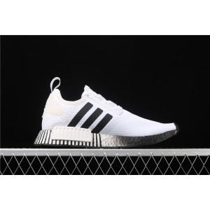 Men Adidas NMD Real Boost R1 FV3686 In White Black Shoes