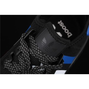 Men Adidas NMD Real Boost R1 FV8428 In Black Color Logo Shoes