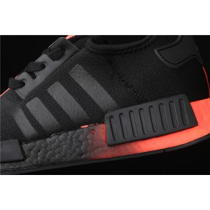 Men Adidas NMD Real Boost R1 FW2282 In Black Orange Shoes