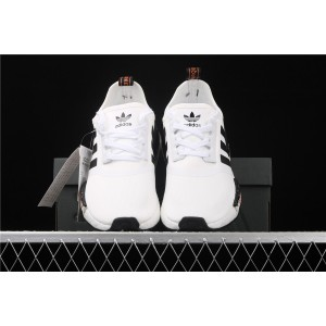Men Adidas NMD Real Boost R1 FW7570 In Cream Black Shoes