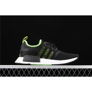 Men Adidas NMD Real Boost R1 FX1032 In Black Fluorescent Shoes