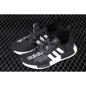 Men Adidas NMD Real Boost R1 G27331 In Black White Shoes