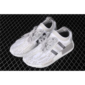 Men Adidas NMD Real Boost R1 PK Boost BY9865 In Gray White Shoes