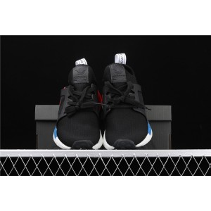 Men Adidas NMD Real Boost Primeknit Runner XR1 BY1909 Black White Shoes