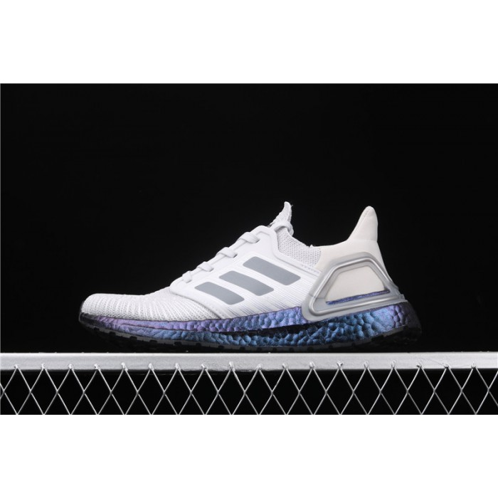 Men Adidas Ultra Boost 20 Consortium Blue EG0755 Grey Shoes
