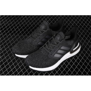 Men Adidas Ultra Boost 20 Consortium EG0708 In Black Dark Gray Shoes