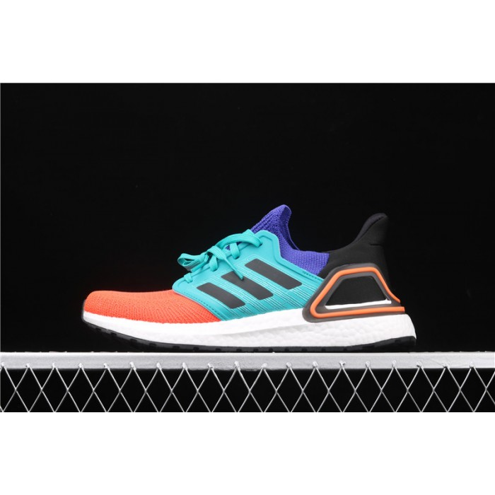 Men Adidas Ultra Boost 20 Consortium FV8331 Orange Blue Shoes