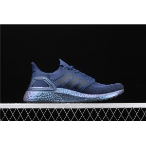 Men Adidas Ultra Boost 20 Consortium FV8450 Blue Metal Shoes