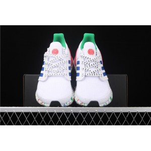 Men Adidas Ultra Boost 20 Consortium FX8889 In White Blue Green Shoes