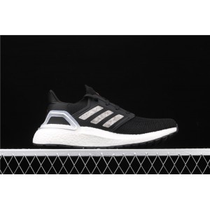 Men Adidas Ultra Boost 20 Consortium White EG0756 Black Shoes
