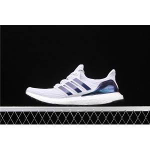 Men Adidas Ultra Boost 4.0 FW5693 White Blue Shoes