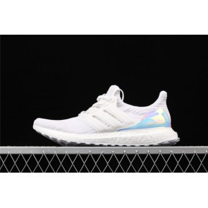 Men Adidas Ultra Boost 4.0 Iridescent BY1756 White Shoes