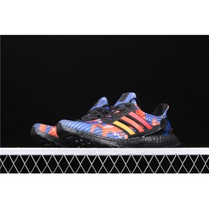 Men Adidas Ultra Boost FV7279 In Blue Red Shoes