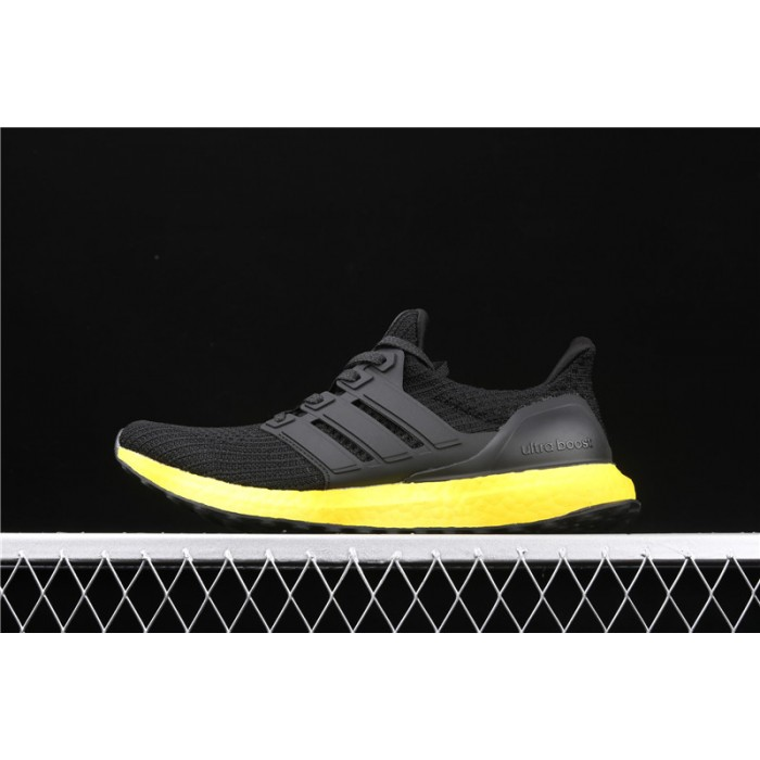 Men Adidas Ultra Boost FV7280 In Black Yellow Shoes