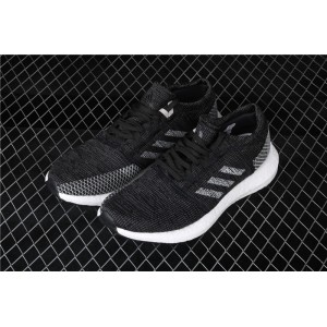 Men Adidas Pure Boost Go B37803 In White Black Shoes