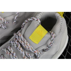Men Adidas Ultra Boost Mid G26842 Gray Yellow Shoes