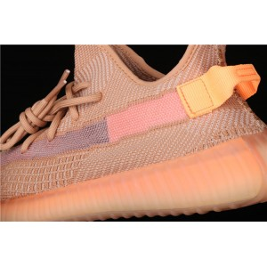 Men Adidas Yeezy Boost 350 V2 Clay In Pink Orange Shoes
