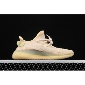Men Adidas Yeezy Boost 350 V2 Flax In Sand Shoes