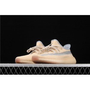 Men Adidas Yeezy Boost 350 V2 Linen In Sand Gray Shoes