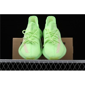 Men Adidas Yeezy Boost 350 V2 In Fluorescent Green Shoes