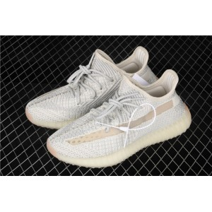 Men Adidas Yeezy Boost 350 V2 In Gray Cream Shoes
