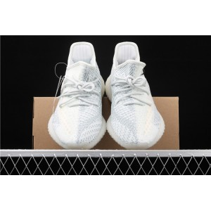 Men Adidas Yeezy Boost 350 V2 In Ice Blue White Shoes