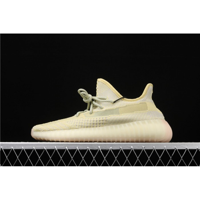Men Adidas Yeezy Boost 350 V2 In Lemon Yellow Shoes