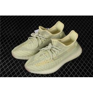 Men Adidas Yeezy Boost 350 V2 In Yellow Gray Shoes
