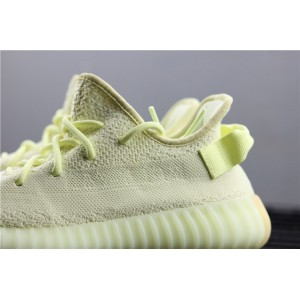 Men Adidas Yeezy Boost 350 V2 Real Basf In Fluorescent Yellow Shoes