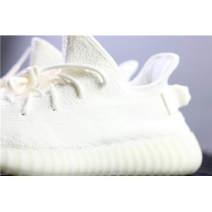 Men Adidas Yeezy Boost 350 V2 Real Basf In Fluorescent White Shoes