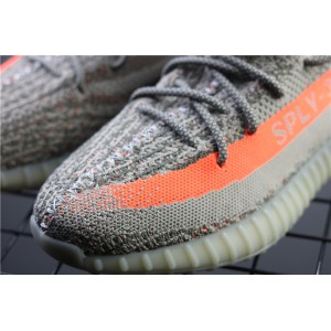 Men Adidas Yeezy Boost 350 V2 Real Basf In Gray Orange Shoes