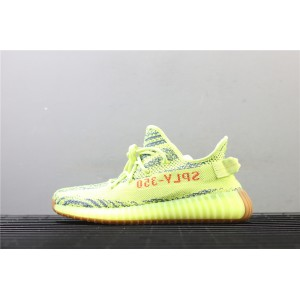Men Adidas Yeezy Boost 350 V2 Real Basf In Yellow Shoes