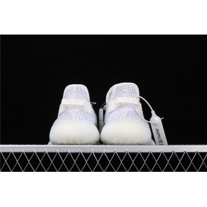 Men Adidas Yeezy Boost 350 V2 Real Basf Static In White Shoes