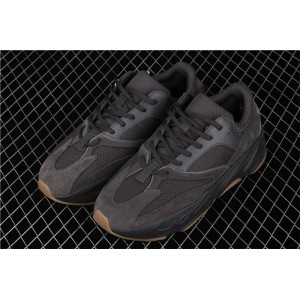 Men Adidas Yeezy Boost 700 Utility Black In Chocolate Shoes