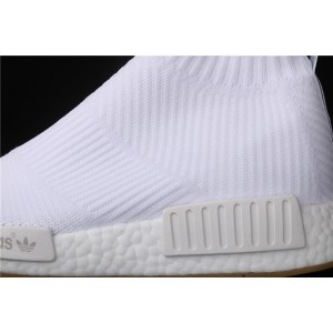 Women Adidas NMD Real Boost CS1 PK All White BA7208 Shoes