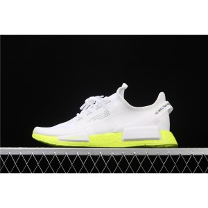Women Adidas NMD Real Boost R1 V2 FX3903 White Fluorescent Shoes