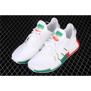 Women Adidas NMD Real Boost R1 V2 FY1160 Cream Green Red Shoes