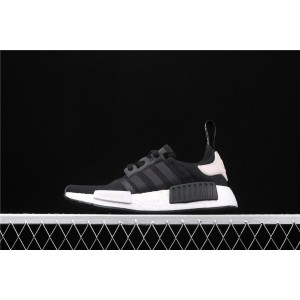 Women Adidas NMD Real Boost R1 B37645 Black White Shoes