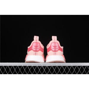 Women Adidas NMD Real Boost R1 B42087 Pink Red Shoes