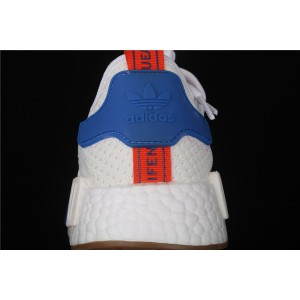 Women Adidas NMD Real Boost R1 BB9498 Cream Blue Shoes
