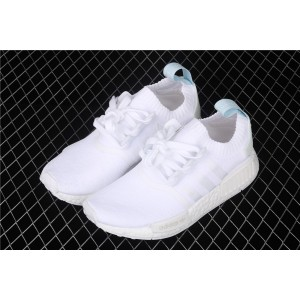 Women Adidas NMD Real Boost R1 CQ2040 White Shoes