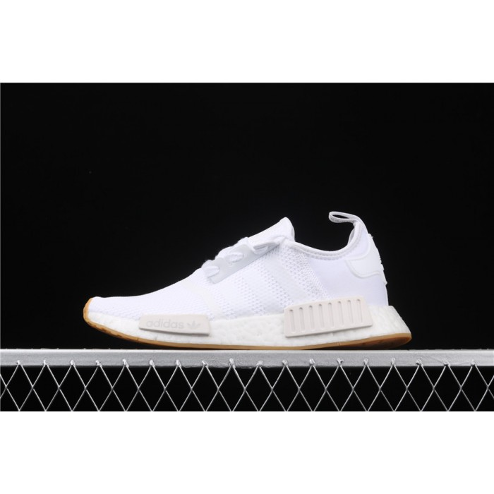 Women Adidas NMD Real Boost R1 D96635 White Shoes