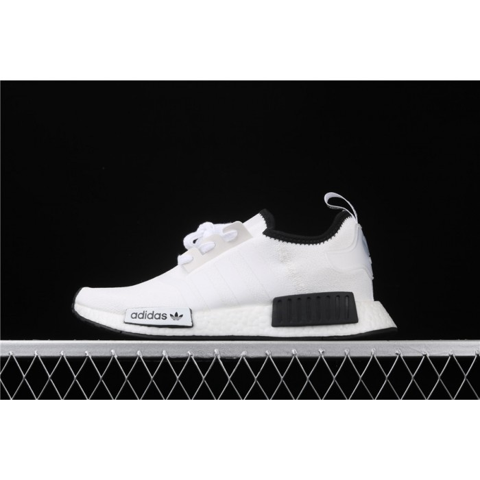 Women Adidas NMD Real Boost R1 DB3587 Cream Black Shoes