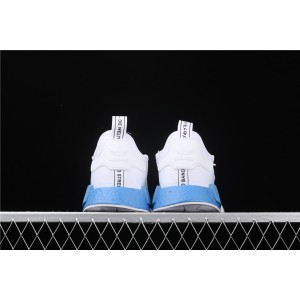 Women Adidas NMD Real Boost R1 EE6677 White Blue Shoes