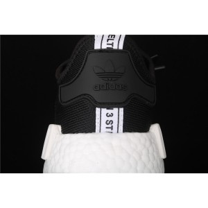 Women Adidas NMD Real Boost R1 EF5861 Black White Shoes