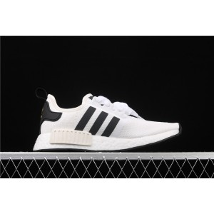 Women Adidas NMD Real Boost R1 EG5662 Cream Black Shoes