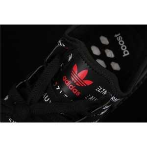 Women Adidas NMD Real Boost R1 EG6363 Black Red Shoes